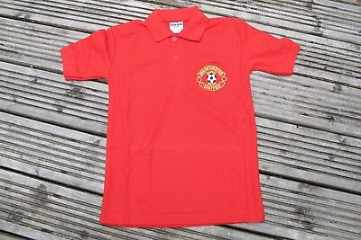 Man Manchester Utd Fan Polo  INFANTS BOYS GIRLS  AGES 3-10  RED SUPER REDS