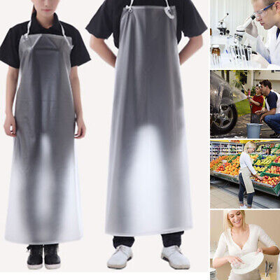 PVC Transparent Clear Vinyl Waterproof Oil Resistance Apron Kitchen Cooking Home