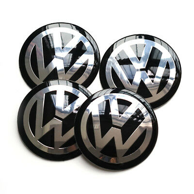 "VW 65mm 2.5"" Wheel Center Hub Cap Decals Emblem Stickers VOLKSWAGEN Center Caps"