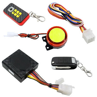 Motorcycle Scooter 315MHZ 125db 12V Antitheft Security Remote Voice Alarm System