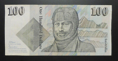 1985 $100 One Hundred Dollar Johnston Fraser Banknote R609  VF+