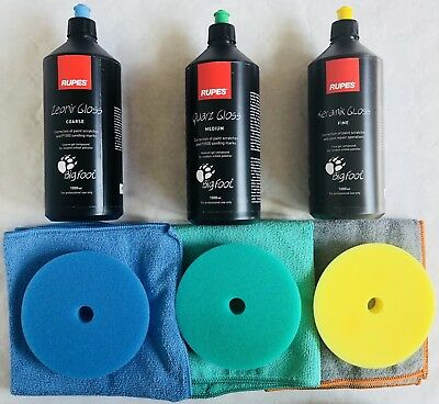Rupes Politur Set Maxi Rupes Polierschwamm Big Foot Poliermaschine Schleifpaste