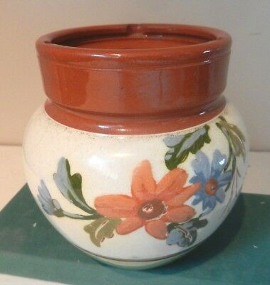Tobacco Jar with flowers