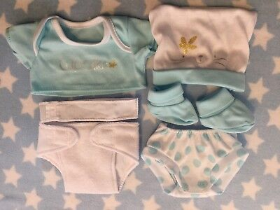 Dolls Blue Clothes Layette Fits 12-14 Inch Baby Boy Doll Reborn