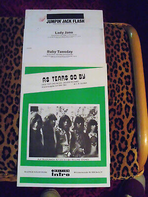 The Rolling Stones, Noten *As tears go by* und andere, benutzt