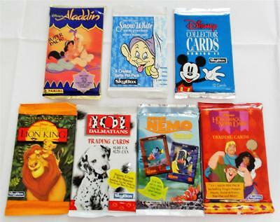 Collection of Great Disney Cards  - 7 Different Sealed Packs