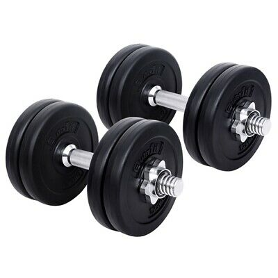 15kg Dumbbell Set Gym Home Body Fitness Exercise Adjustable Weight Lifting Plate