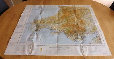 Rare MOD Navigation Planning Chart Aviation Defence Map South Wales 1968