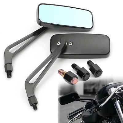 Universal 8mm 10mm Black Motorcycle Side Mirrors Thread Motorbike Scooter Pairs