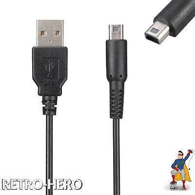 3DS, 3DS XL, DSi, DSi XL, 2DS USB Charger Data Sync Power Cable Charging Lead DS