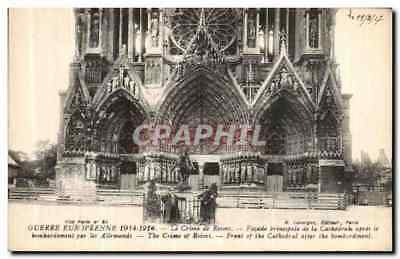 CPA Crime de Reims Cathedrale