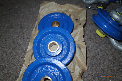 "Heavy Duty 95mm diam Winch Pulley / Snatch Block to fit a std 5/8"" 3.25T shackle"