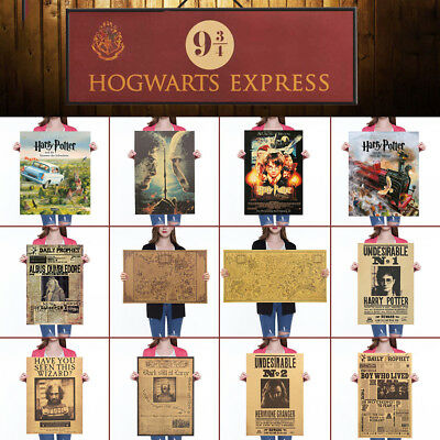 Harry Potter Poster Classic Movie Wall Stickers Daily Prophet Decoration color
