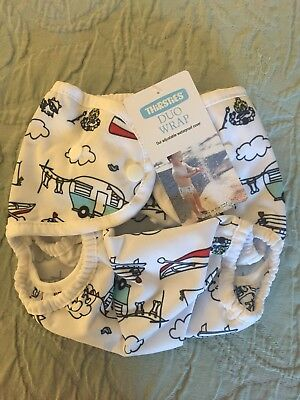 Thirsties Duo Wrap Size 2 Happy Camper Cloth Diaper Cover New With Tag