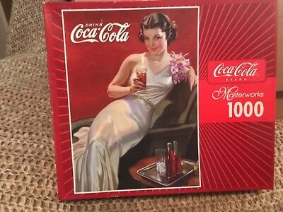 "2003 Masterworks Coca Cola 1000 Piece Puzzle  ""Cola In Style"" #97293 Sealed New"