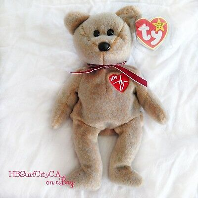 TY Beanie Baby Babies 1999 SIGNATURE BEAR NEW Condition with Tag Error  Retired f23c6a4a37e