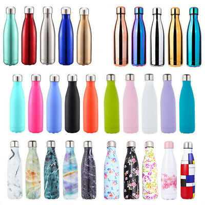 500ML Water Bottle Vacuum Insulated Flask Thermal Sport Chilly Cold Cups