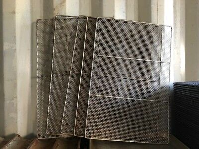 Lot of 5 Donut Doughnut Icing Dipping Fryer Frying Glazing Screens 17x25 Used