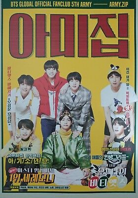 BTS 118 pages photobook limited for 5th ARMY ZIP official fanclub membership kit