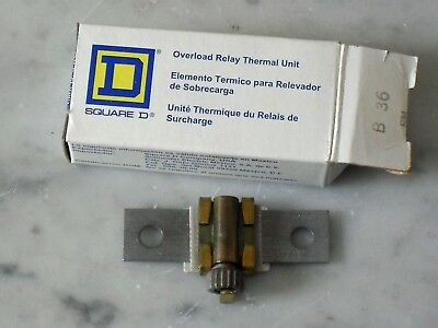 Square D B36 overload relay thermal unit
