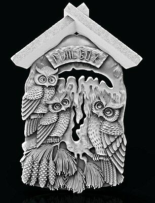 3D Stl Model Relief Artcam Cnc Decor Owl Mail Box