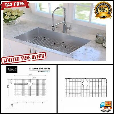 KRAUS STAINLESS STEEL Bottom replacement Grid for Single ...