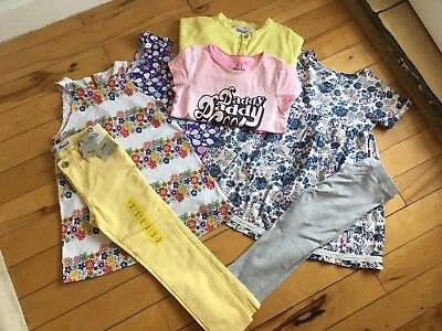 Girls Summer Bundle- age 5-6 Dresses Jeans T-shirts Leggings Next And More