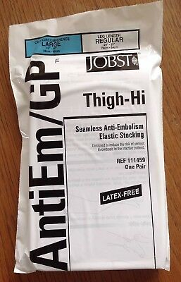 JOBST 111459 Thigh-Hi Seamless Anti-Embolism Elastic Stocking Large Reg One Pair