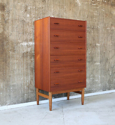 60er MUNCH TEAK KOMMODE HIGHBOARD MIDCENTURY 60s CABINET DANISH CHEST OF DRAWERS