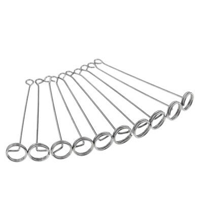 Lovoski 10Pcs Durable Fishing Line Snap Swivels Connector for Hook Plate