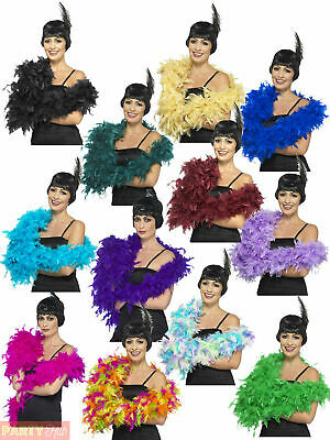 Deluxe Feather Boa Ladies Fancy Dress Costume Accessory Hen Party 20s Burlesque