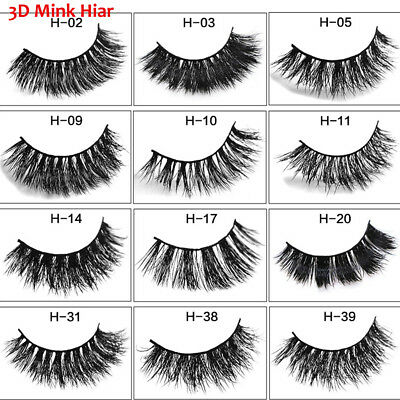 Cruelty Free Fluffy Thick Long 3D Mink Hair False Eyelashes Extension Tools