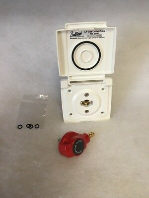 Bullfinch Gas Outlet/BBQ out 6087 White Caravan/Motorhome *Surplus Stock* (C26)