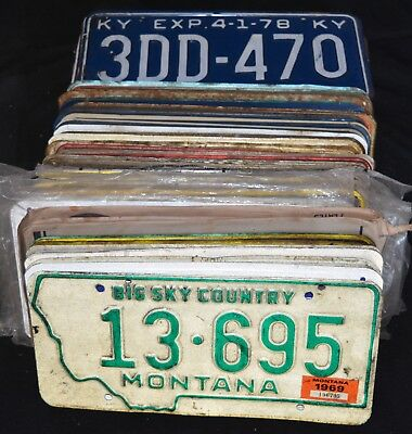Random Vintage License Plate HUGE LOT OF 80    (B4)