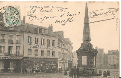 CPA - GOURNAY-en-BRAY (76) La Fontaine - ANIMEE