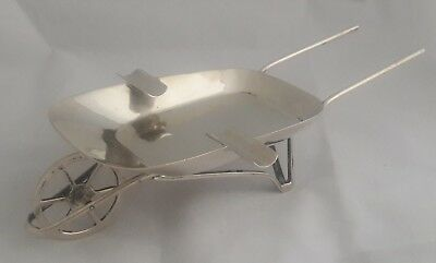 Vintage Mexico Sterling Silver Maciel Wheel Barrel Ash Tray