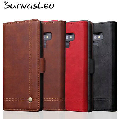 For Samsung Galaxy Note9 Luxury Wallet Flip Leather Case Phone Cover Purse Pouch