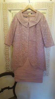 Zeila Blush Pink Mother Of The Bride/Groom, Dress And Coat, Size 16, Stunning...