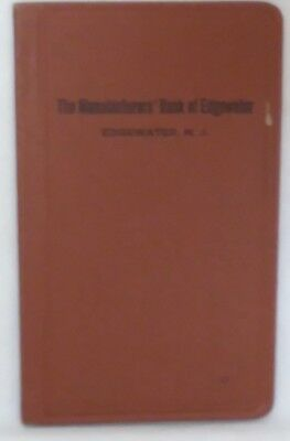 Vintage 1952-1953 Manufacturers' Bank of Edgewater New Jersey Deposit Book