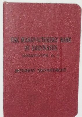 Vintage 1947-1949 Manufacturers' Bank of Edgewater New Jersey Deposit Book