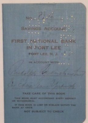 Vintage Expired 1950-55 First National Bank of Fort Lee, New Jersey Deposit Book