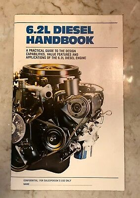 RARE Vintage OEM 1982 Chevrolet 6.2L Diesel Handbook Super Condition