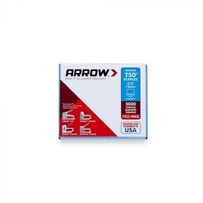 "Arrow A506IP-6 T50 Staples 10mm 3/8"" Bulk Pack of 5000"