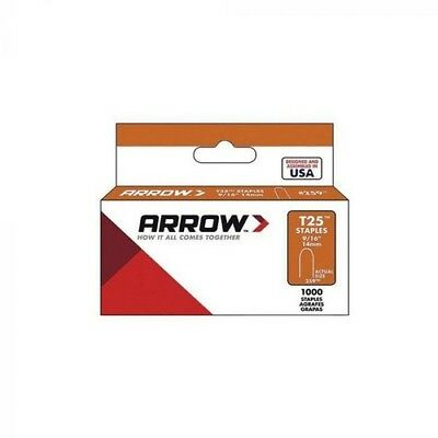 """Arrow A259W T25 Round Crown Staples White 14mm 9/16"""" Pack of 1000"""