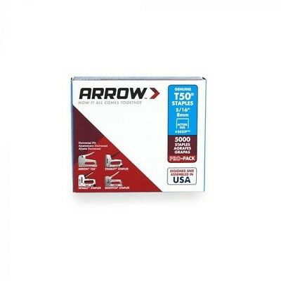 "Arrow A505IP-6 T50 Staples 8mm 5/16"" Bulk Pack of 5000"