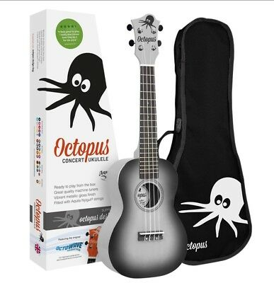 Octopus Concert Smoky Black Burst Ukulele