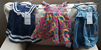 Baby Girls Summer Clothes Bundle 3-6 Months. M&S sale items. Inc 5 dresses. BNWT