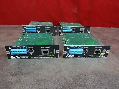 Lot of 4 APC SMART SLOT NETWORK MANAGEMENT ADAPTER CARD AP9619 10/100