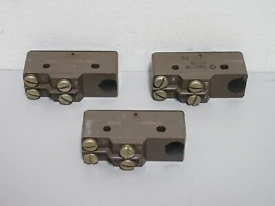 Lot of 3 New Honeywell Micro Switch BZ-3AT Limit Switches