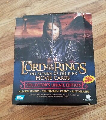 Grab Box of over  100 LORD OF THE RINGS Return of the King Movie Cards
